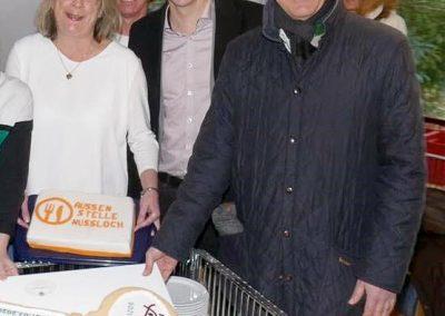 Sabine Kuhn mit den Bürgermeistern Förster und Reinwald
