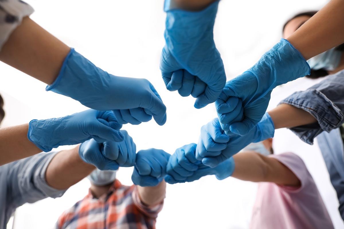 Helfende Hände in Pandemiezeiten, Neujahrsgruß 2021