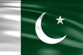 Die Landesflagge von Pakistan